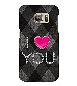 EPICCASE love blocks Mobile Back Case Cover For Samsung Galaxy S7 Edge (Designer Case)
