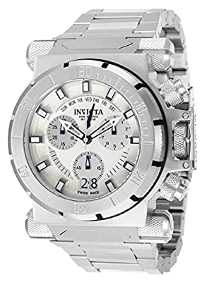 Invicta Mens Coalition Force Swiss Made Chronograph Day & Date Watch SET w/ 2 Bands 11537