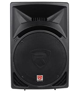 "Package: (2) Rockville RPG15 2,000 Watt 2-Way DJ/PA Powered Speakers With a 15"" Woofer and a 3"" Voice Coil + Rockville RVSS2-XLR Pair of Adjustable Pro Speaker Stands + (2) XLR Male to Female Cables + Carrying Case"