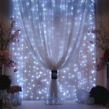 AGPtEK [UPDATE VERSION] 9.8ft 300 LED Weatherproof Freeze-proof Outdoor String Light Curtain Light for Christmas Xmas Wedding Party Home Decoration - White (Copper Freeze Plug compare prices)