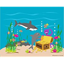 Sea Treasures Paint by Number Wall Mural