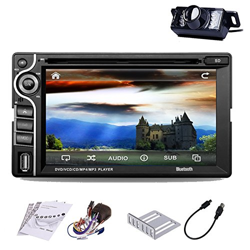 "vw Pupug LED Cš¢mara trasera PC 6.2 ""Double 2 Din Car Stereo 2DIN vehšªculo ršŠcepteur de DVD Reproductor de CD de la pantalla tš¢ctil de Bluetooth del coche de HD PC Radio Audio USB SD De Video est&s"