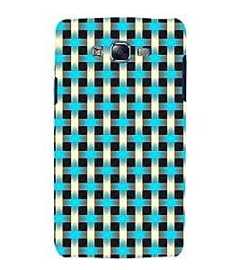 printtech Criss Cross Pattern Back Case Cover for Samsung Galaxy E5 / Samsung Galaxy E5 E500F