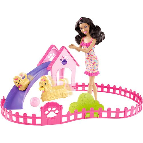 Barbie Puppy Play Park Doll and Play Set, Nikki D