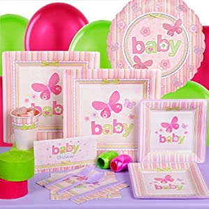 carter 39 s baby girl baby shower standard party kit for 8