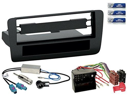 Autoradio-Einbau-Komplettset-Audi-A1-Typ-8X-Bj-2010-2012-schwarz