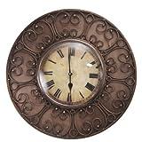 Decoritte Iron And Glass Antique Theme Wall Clocks (15.5 Cm X 15.5 Cm X 2 Cm, 83676)