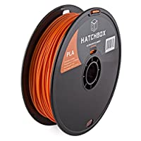 HATCHBOX 3D PLA-1KG3.00-ORN PLA 3D Printer Filament, Dimensional Accuracy +/- 0.05 mm, 1 kg Spool, 3.00 mm, Orange by HATCHBOX