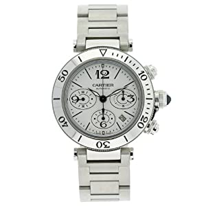 Cartier Men's W31089M7 Pasha Seatimer Chronograph Watch by Cartier