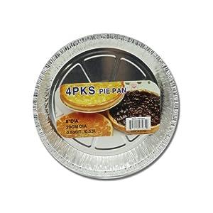8 Aluminum Foil Pie Pan Set (4 pc) by Pie Pan