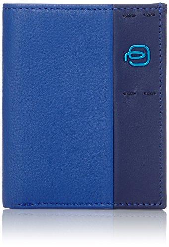 Piquadro PU3244P15/BLU Portafoglio, Linea Pulse, Blu, 10 cm