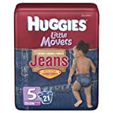 Huggies Little Movers Diapers, Jeans, Size 5 (Over 27 lb), Jumbo, 21 ct.
