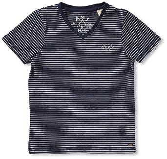 Scotch Shrunk Jungen T-Shirt 13460651591 Shortsleeve Basic V-neck Tee  Gr. 116  (6), Mehrfarbig (B - dessin B )