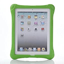 WONE Light Weight Shock Proof Kids Friendly Cover for Apple iPad 4, iPad 3 & iPad 2 2nd 3rd 4th Generation (Green without Handle)