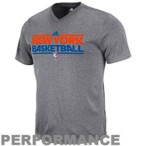 New York Knicks Slim Fit Pre-Game Clima Fabric Short Sleeve Shirt by Adidas by adidas