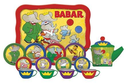 Schylling Babar The Elephant Tin Tea Set