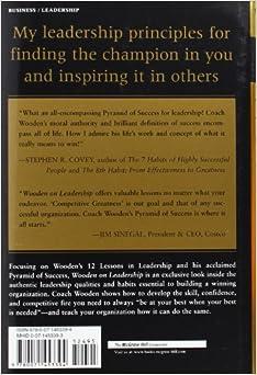 Wooden On Leadership How To Create A Winning Organization John