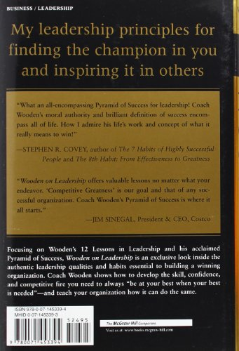 Wooden on Leadership: How to Create a Winning Organization