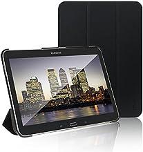 JETech® Gold Slim Fit Galaxy Tab 4 10.1 Smart Funda Carcasa con Stand Función y Imán Incorporado para el Sueño/Estela para Samsung Galaxy Tab 4 10 pulgadas (Galaxy Tab 4 10.1Pulgadas, Negro)