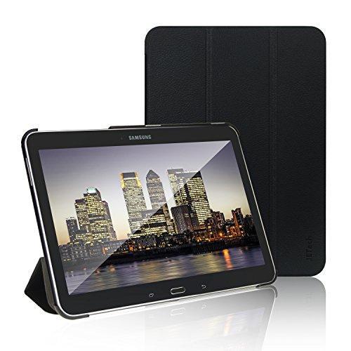 JETech Gold Slim-Fit Folio Smart Case Cover Custodia per Samsung Galaxy Tab 4 10.1 (10 Inch) Tablet con Auto Funzione Sonno/Veglia (Nero) - 0590