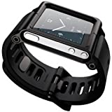 [Bamboo]Apple iPod Nano 6 6nd 6G 6Th Smart Aluminum Metal Watch Band Wrist Kit Cover Case For Apple iPod Nano 6 6nd 6G 6Th,BLACK