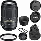 Nikon 55-300mm f/4.5-5.6G ED VR AF-S DX Nikkor Zoom Lens for Nikon Digital SLR Bulk Package Deal + Pouch Case + UV Filter + CT Lens Kit