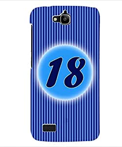 ColourCraft Numerology Number 18 Back Case Cover for HUAWEI HONOR HOLLY