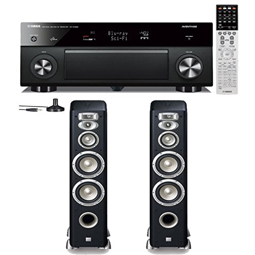 Yamaha Rx-A1030 7.2 Channel Network Audio Video Receiver Plus A Pair Of Jbl Studio L880 4-Way High Performance Floorstanding Speakers