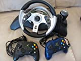 Original Xbox, Mc2 Wired Racing Wheel, and Accessories