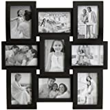 Melannco 9-Opening Collage Frame (Flat and Curved)