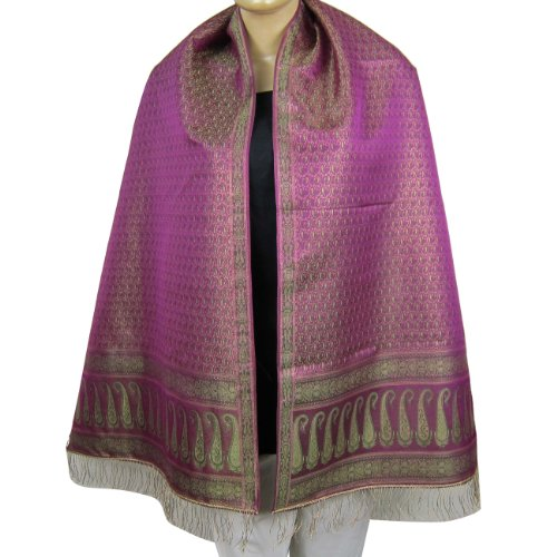 Scarves For Women Women Scarf Dresses Of India Brocade Silk 55 cm x 182 cm