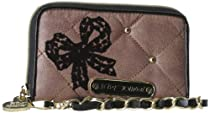 Hot Sale Betsey Johnson BS40515 Credit Card Holder,Taupe,One Size