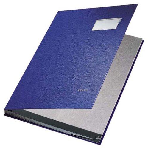 Leitz 57010035 Unterschriftsmappe, 10 Fächer, Überzug PP, blau