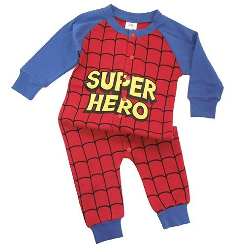 Super Hero/スーパーヒーロー◎長袖ベイビーロンパース☆赤ちゃん/ベビー服(コスプレ)通販☆【70cm】