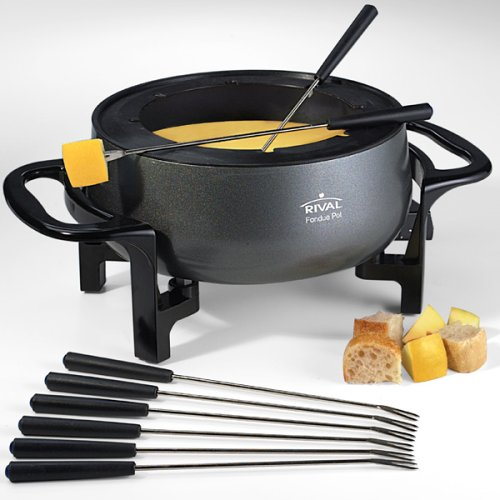 Rival FD300D 3-Quart Fondue Pot, Black (Fondue Family Set compare prices)