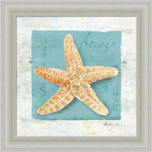 Blue Seashell Ii By Danhui Nai Bathroom Spa Bath Room Wall Art Print Framed Décor front-594033