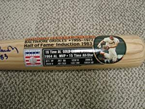 Brooks Robinson Autograph Bat Baltimore Orioles by Bud