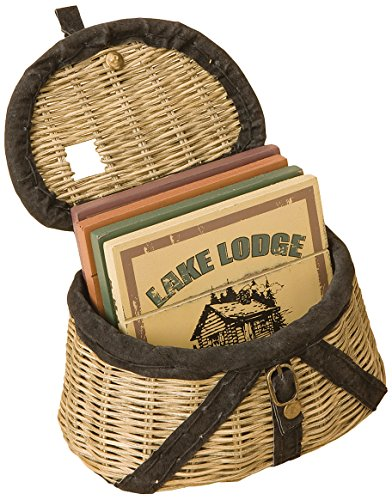 Big Sky Carvers Creel Basket Coaster Set