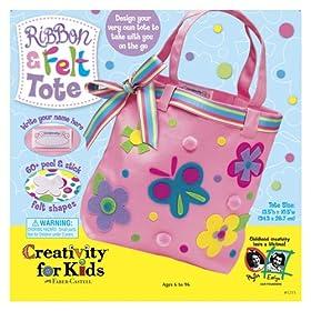 Creativity for Kids Ribbon & Felt Tote