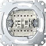 Merten MEG3126-0000 Doppelwechselschalter-Einsatz, 1-polig, 10 AX, AC 250 V, Steckklemmen