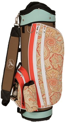 sassy-caddy-womens-groovy-golf-cart-bag-coral-light-blue-taupe
