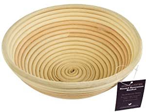 Andrew James Round Natural Ratan Banneton Dough Proving Basket For All Types Of Bread including Artisan 1Kg - Includes 2 Year Warranty