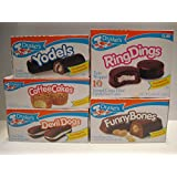 Drake's Cakes Bundle: Yodels 10 Ct, Coffee Cakes 10 Ct, Devil Dogs 8 Ct, Ring Dings 10 Ct, Funny Bones 10 Ct