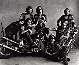 Photo Group of Hells Angels on Motorcycle c1962