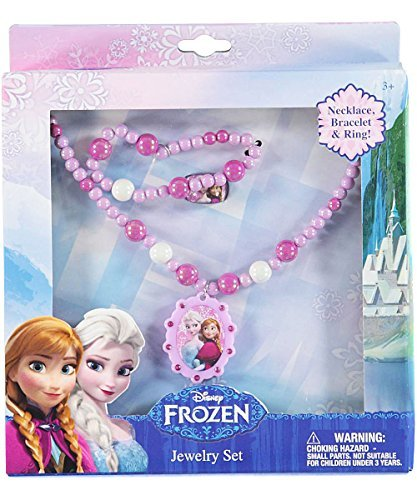 Disney Frozen Jewelry Box Set with Necklace, Bracelet & Ring