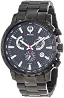 Brillier Men's 16-07 Endurer Black IP Chronograph Swiss Quartz Watch from Brillier