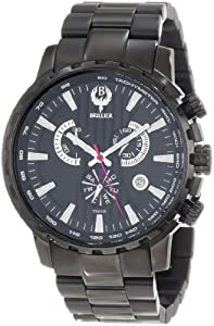 Brillier Men's 16-07 Endurer Black IP Chronograph Swiss Quartz Watch