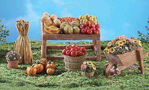 Collectible Miniature Farmers Market Set - 7 Pc