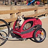 Solvit HoundAbout Dog Bike Trailer &#8211; Medium Size &#8211; 46L x 23W x 28H inches