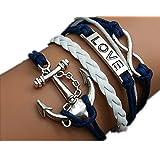 Jirong Armband Unendlichkeit - Love Bracelet - Armband Anker Seile Armband Charmebolzen Personalized Armband 2409r